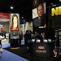 The booth of National Rifle Association (NRA) is seen during CPAC 2018 February 22, 2018 in National Harbor, Maryland. The American Conservative Union hosted its annual Conservative Political Action Conference to discuss conservative agenda.   (Alex Wong/Getty Images/AFP)