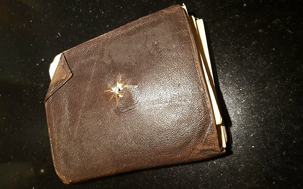 Nathan van Dam's wartime wallet, returned to his family in 2012 by ITS. (Martine van Dam)