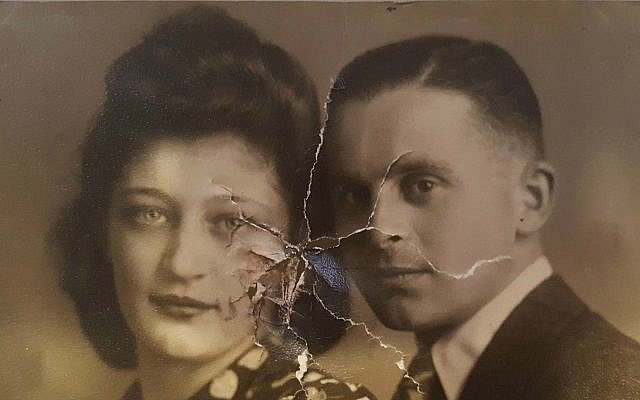 Photo of Nathan van Dam and his bride Esther Israel, Nazi-occupied Holand, 1942. Found in Nathan van Dam's recovered wallet.  (Martine van Dam)