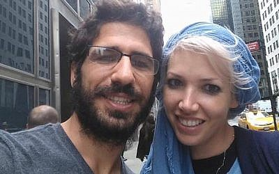 Shimon Abta and his wife, who asked not to be named, in happier times. (Facebook via JTA)