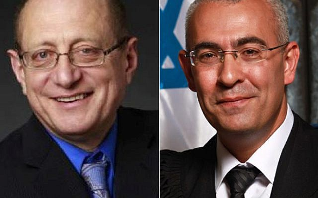 Alex Stein (L) and Ofer Groskopf who were elected to the Supreme Court on February 22, 2018. (Courtesy)