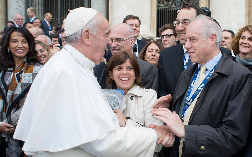 Jonathan Arkush with Pope Francis. (Courtesy)