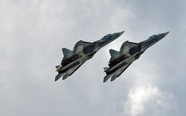 The Su-57. (Photo by Anna Zvereva, CC BY-SA 2.0, Flickr)