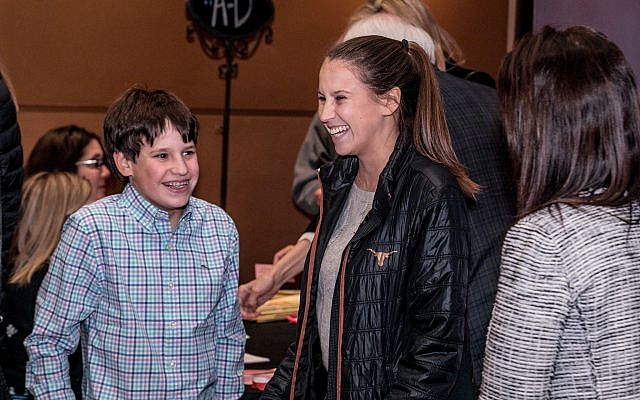 Young festival goers enjoy the Atlanta Jewish Film Festival, on opening night, January 24, 2018. The 23-day event is one of the biggest of its kind in the world. (AJFF)