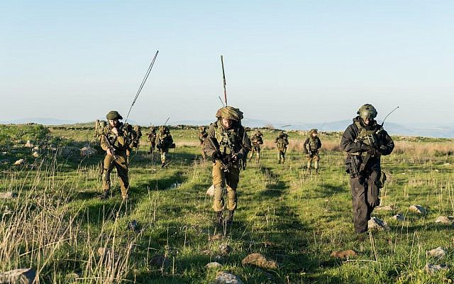 Illustrative: Israeli combat soldiers take part in an exercise in northern Israel. (Israel Defense Forces)