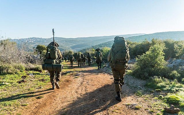 Israeli combat soldiers take part in an exercise. (Israel Defense Forces)