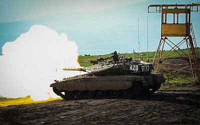 The IDF's 188th Armored Brigade takes part in a large exercise  in northern Israel meant to simulate war in Lebanon in February 2018. (Israel Defense Forces)