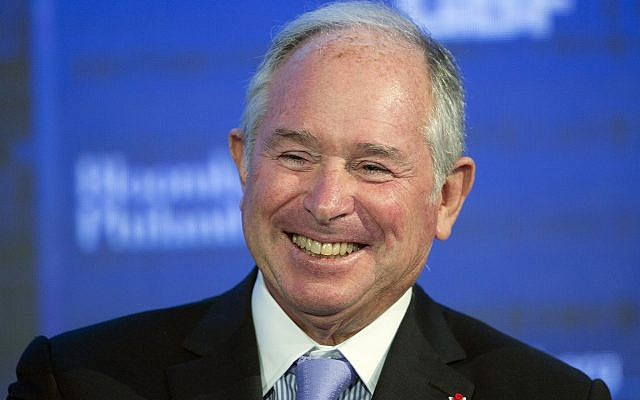 In this Wednesday, September 20, 2017 file photo, Blackstone Group chairman and CEO Stephen Schwarzman speaks at the Bloomberg Global Business Forum, in New York. (AP Photo/Mark Lennihan, File)