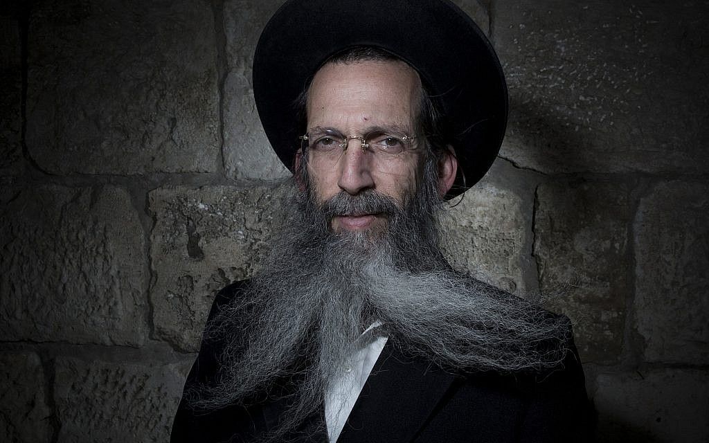 Tzvi Schiff poses for a portrait in Jerusalem's Old City, February 11, 2018. (AP Photo/Oded Balilty)