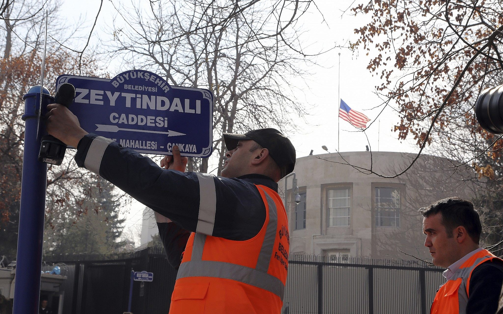 Turkey renames street with US mission after Syrian offensive