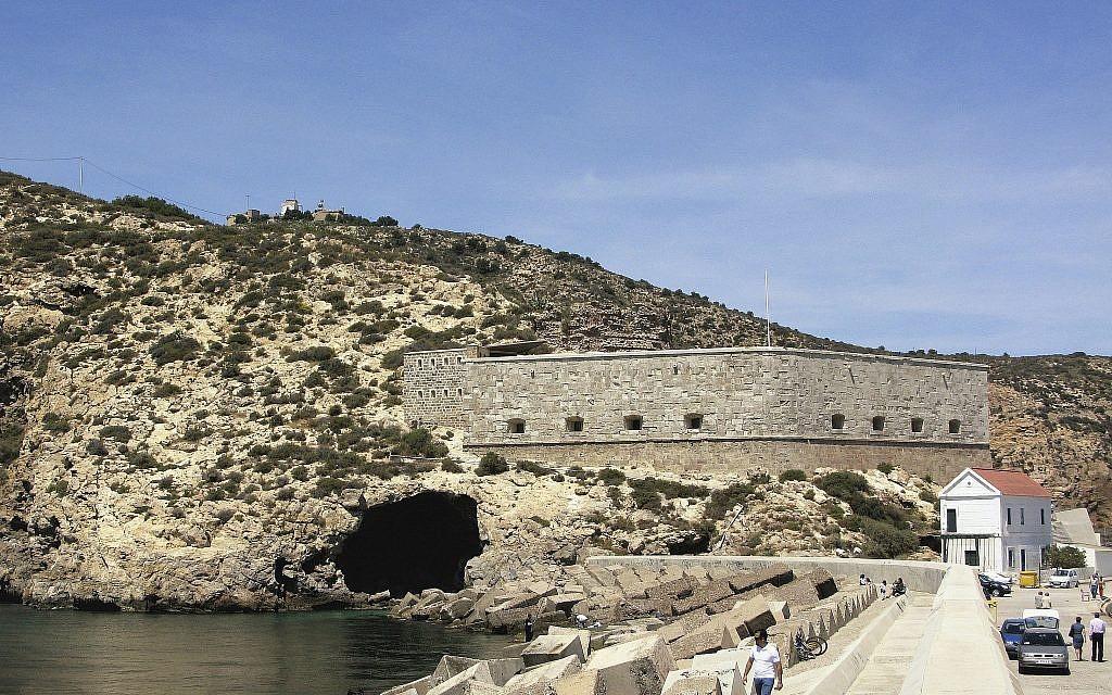 This undated image provided by João Zilhão in February 2018 shows the Cueva de los Aviones near Cartagena, Spain. (João Zilhão via AP)