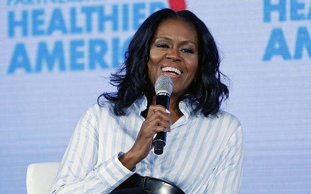 Former first lady Michelle Obama at the Partnership for a Healthier American 2017 Healthier Future Summit in Washington, May 12, 2017. (AP Photo/Pablo Martinez Monsivais, File)