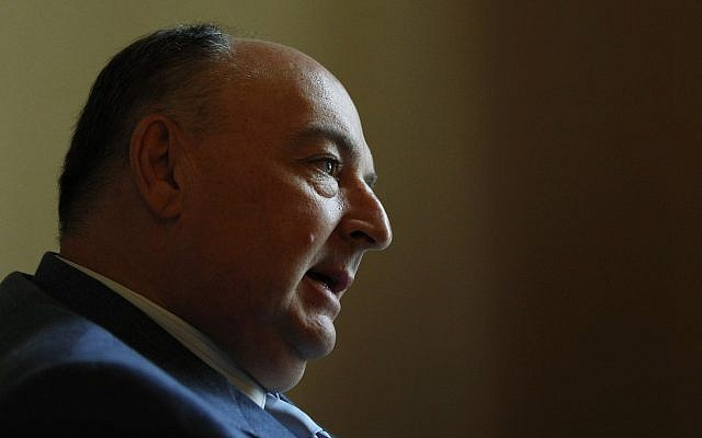 Moshe Kantor, president of the European Jewish Congress, in 2012. (AP Photo/Petr David Josek)