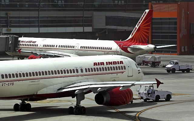 Illustrative: Air India planes parked on the tarmac at the Indira Gandhi International Airport in New Delhi, India, on May 18, 2012. (AP Photo/Kevin Frayer)