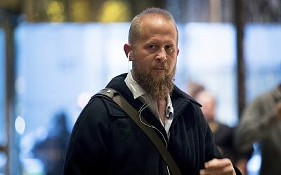In this December 6, 2016 photo, Brad Parscale arrives at Trump Tower in New York. (AP Photo/Andrew Harnik)