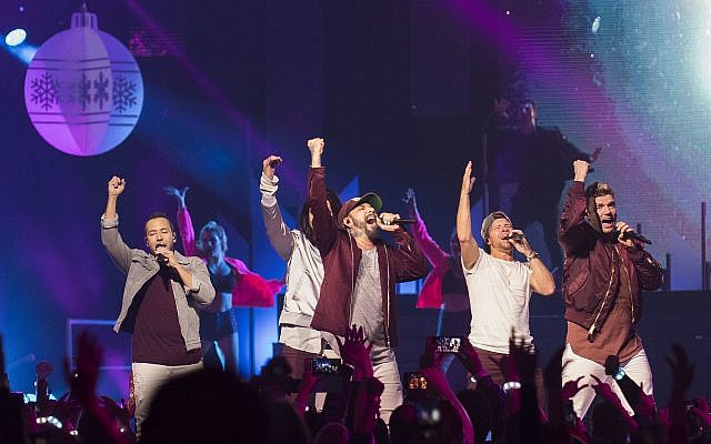 The Backstreet Boys perform on stage during the 2017 iHeartRadio Jingle Ball North at the Air Canada Centre on Saturday, December 9, 2017, in Toronto (Arthur Mola/Invision/AP)
