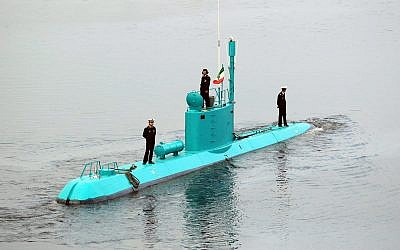 Iran's Ghadir submarine moves in the southern port of Bandar Abbas in Iran, Wednesday, November 28, 2012. (AP/Fars News Agency, Ebrahim Norouzi)