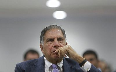 Indian industrialist Ratan Tata at the 'Make in India' event in Mumbai, India, February 15, 2016. (AP Photo//Rafiq Maqbool)