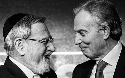 Former Chief Rabbi Lord Sacks and ex-Prime Minister Tony Blair (Blake Ezra)
