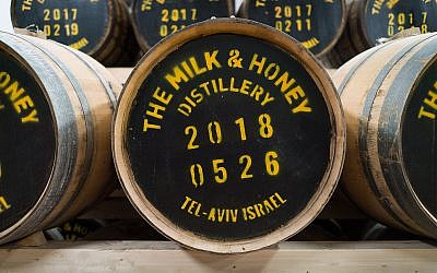 The Milk and Honey distillery in Tel Aviv, February 20, 2018. (Luke Tress/Times of Israel)
