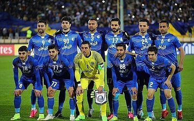 File: Iran's Esteghlal Football Club players in the 2016-2017 season. (Tasnim News Agency/Wikipedia/CC BY)