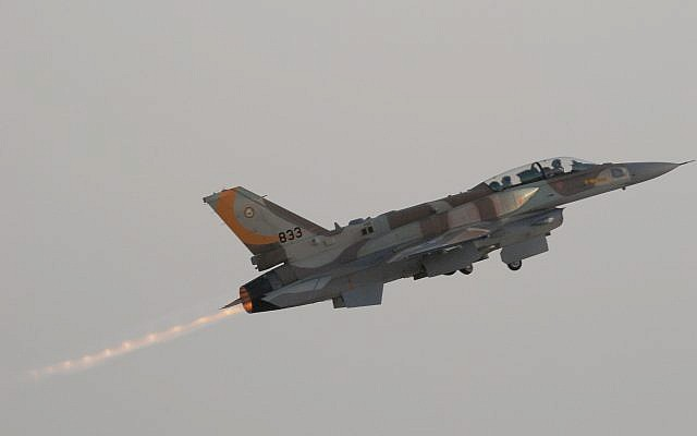 Illustrative: A Lockheed Martin F-16I 'Sufa' takes off during the IDF/AF flight school's 156th graduation ceremony. (Tsahi Ben-Ami/Flash 90)