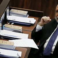 Shas MK Yitzhak Cohen attends a Knesset plenum session on February 13, 2013.(Miriam Alster/Flash90)
