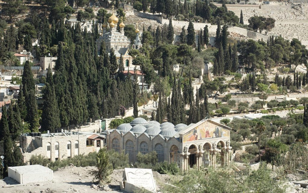 Illustrative: A view over Gethsemane and the Church of Mary Magdalene in Jerusalem. (Sebi Berens/Flash90)