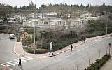 Students are seen walking at the Ariel University campus in the West Bank settlement of Ariel on January 25, 2017. (Sebi Berens/Flash90)