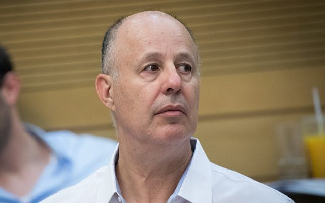 Regional Cooperation Minister Tzachi Hanegbi at the Knesset on July 9, 2017 (Yonatan Sindel/Flash90)
