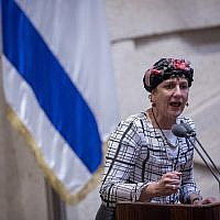 Jewish Home MK Shuli Moalem-Refaeli speaks during a Knesset plenary session on July 26, 2017. (Hadas Parush/Flash90)