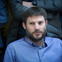 Jewish Home MK Bezalel Smotrich at his party's weekly faction meeting at the Knesset, December 25, 2017. (Miriam Alster/Flash90)