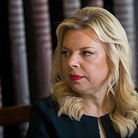 Sara Netanyahu, wife of Prime Minister Benjamin Netanyahu, on January 22, 2018. (Yonatan Sindel/Flash90)