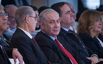 Prime Minister Benjamin Netanyahu at an inauguration ceremony for a new section at the Ben Gurion International Airport near Tel Aviv, February 15, 2018. (Miriam Alster/ Flash90)