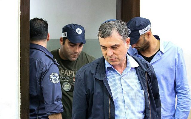 Communications Ministry Director-General Shlomo Filber arrives for a hearing at the Rishon Lezion Magistrate's Court on February 18, 2018. (Flash90)