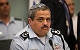 Police Commissioner Roni Alsheich attends an Interior Affairs Committee meeting at the Knesset in Jerusalem, on February 20, 2018. (Yonatan Sindel/Flash90)