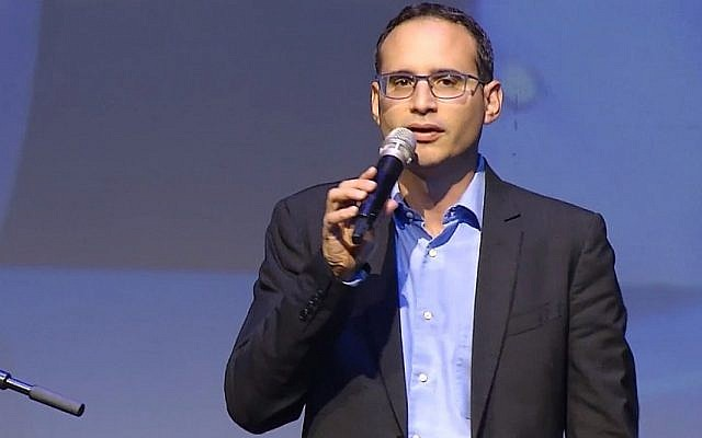 Screen capture from video of Ittai Ben-Zeev, chief executive of the Tel Aviv Stock Exchange. (YouTube)