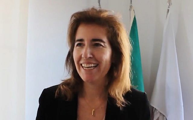 Ana Mendes Godinho, Portugal's secretary of state for tourism, speaking in 2016. (Screen capture: YouTube)