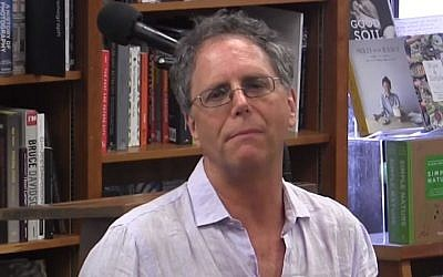 Michael Frank speaking about his prize-winning book 'The Mighty Franks' in July 2017. (Screen capture: YouTube)