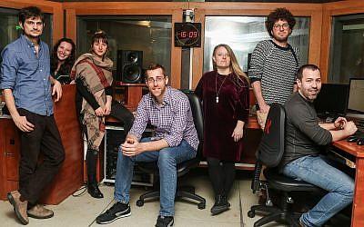 The 'Israel Story' team (Courtesy/Photo by Avishag Shaar Yashuv)