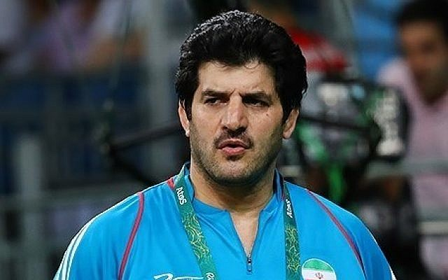Rasoul Khadem, head of Iran's wrestling federation who resigned from his post on February 28, 2018, is seen during the 2016 Summer Olympics. (CC-BY-4.0 Tasnim News Agency/Wikipedia)