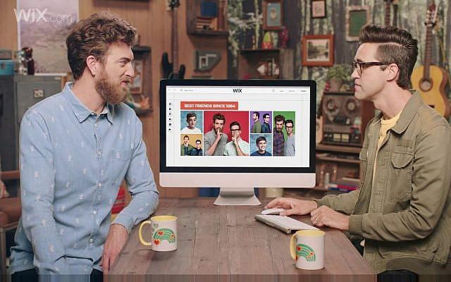 Rhett & Link , the hosts of Good Mythical Morning, will appear in the 30-second commercial of Wix.com to be aired on the Super Bowl game in Feb. 2018 (Courtesy)