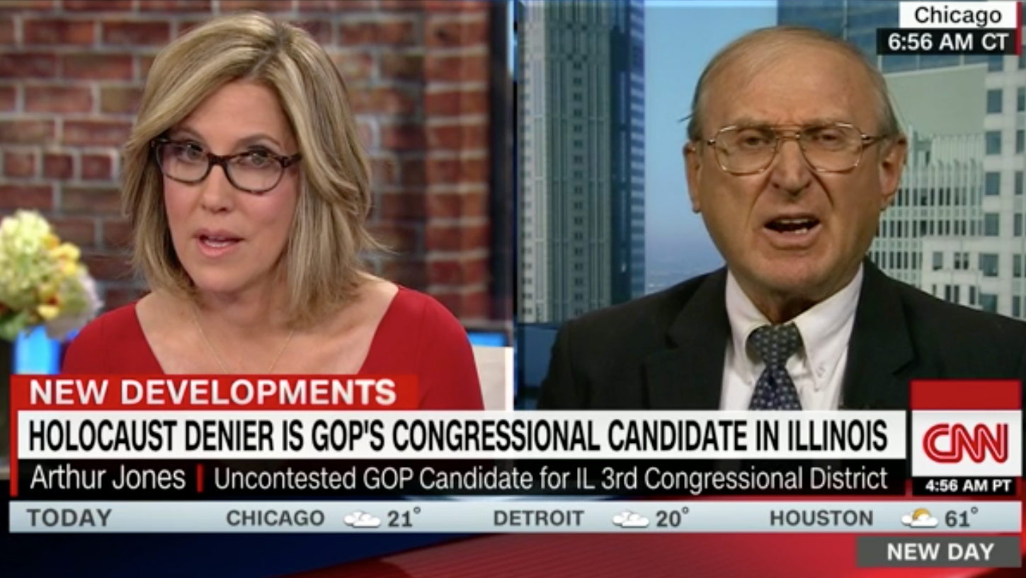Confronted on CNN, Holocaust-denying GOP House candidate calls Shoah 'poppycock'