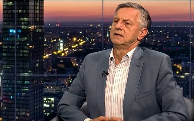 Russian professor Andrzej Zybertowicz. (Screen capture/YouTube)