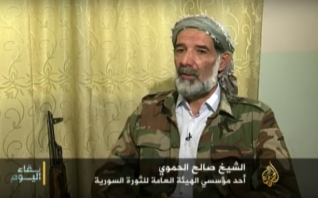 Saleh Al-Hamwi, one of the founders of Al Qaeda's Nusra Front (now called Jaish al-Fatih). He was expelled from the group mid-2015. (Youtube)