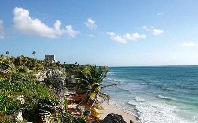 Illustrative: A beach in Tulum, Mexico. (Screen capture/YouTube)