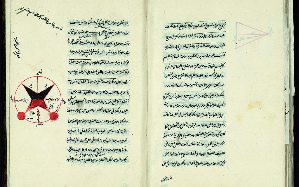 'The Compendium on Astronomy' by Mahmud al-Jaghmini, Ottoman region of Sivas, 1774 (The National Library of Israel)