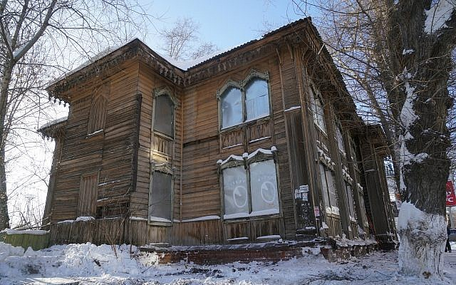 The Soldiers Synagogue in Tomsk Russia in January, 2018 (Cnaan Lipshiz/JTA)