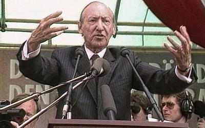 "Still from the documentary ""The Waldheim Waltz."" (Via JTA)"