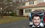 Rabbi Aryeh Goodman, and his New Jersey home where he ran a religious learning center. (YouTube screenshot/Middlesex County Prosecutor's Office)